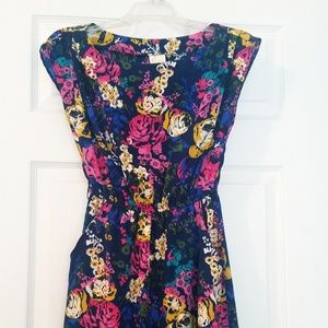 Red Camel Floral Summer Dress | Size XS
